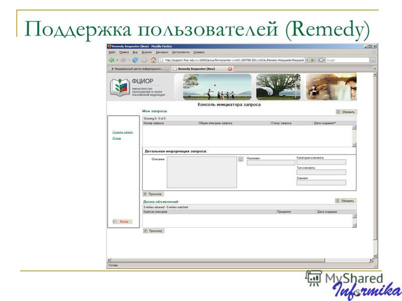 Поддержка пользователей (Remedy)
