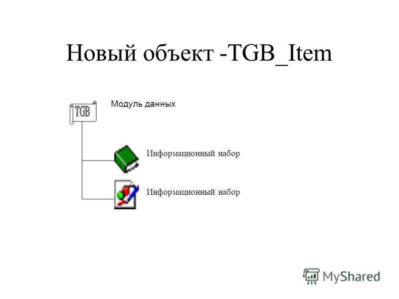 Новый объект -TGB_Item Модуль данных Информационный набор