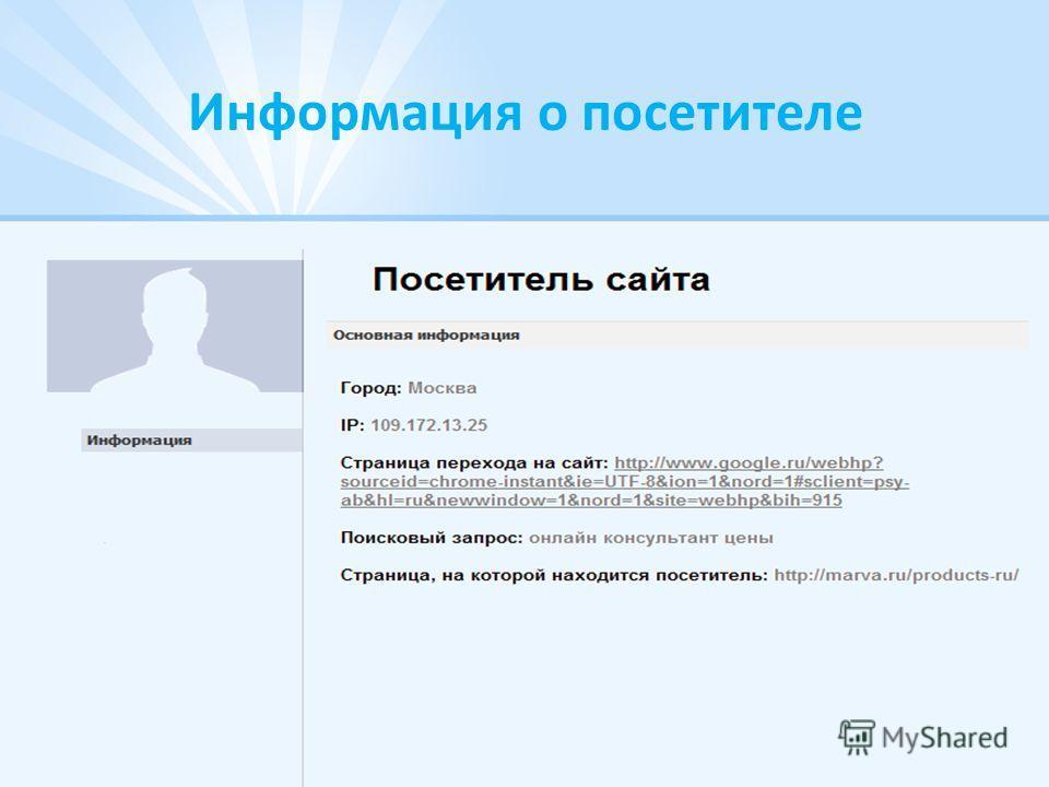 Информация о посетителе