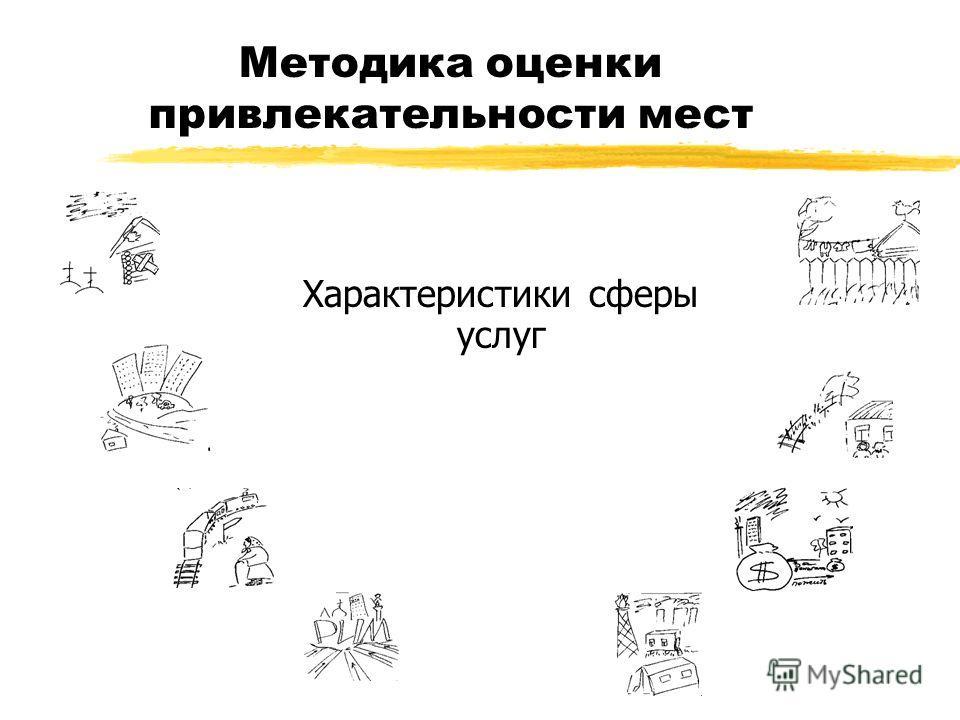 Характеристики сферы услуг Методика оценки привлекательности мест