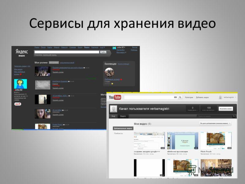 Сервисы для хранения видео