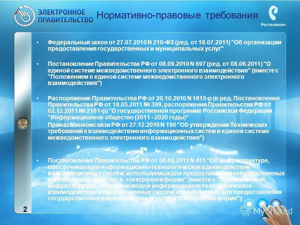 Федеральный закон от 27.07.2010 N 210-ФЗ (ред. от 18.07.2011)