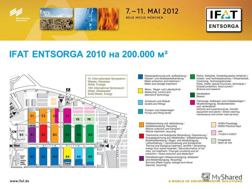 IFAT ENTSORGA 2010 на 200.000 м²