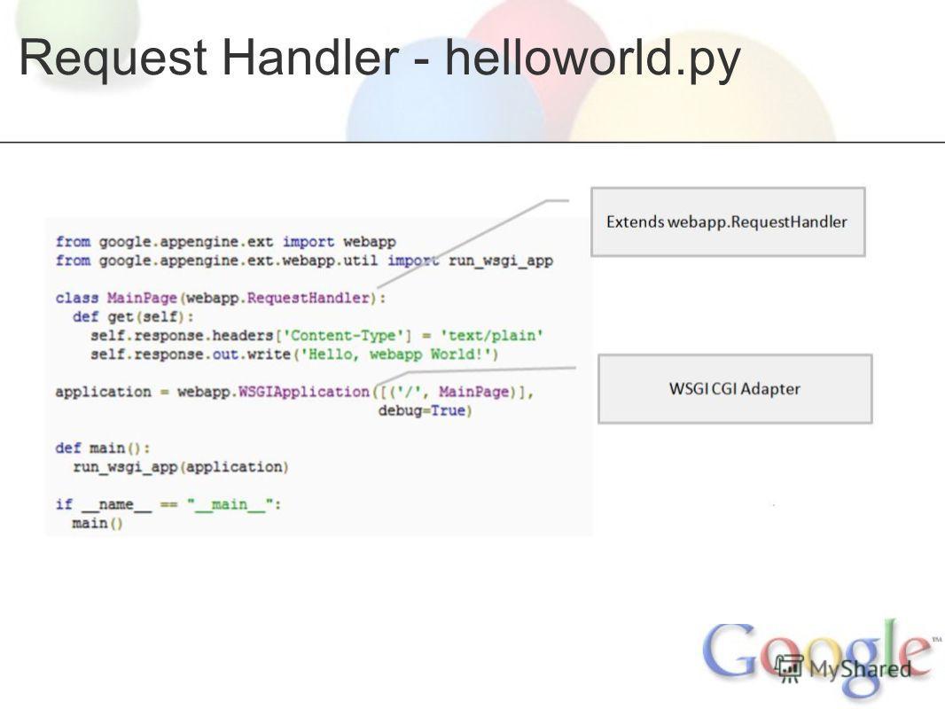 Request Handler - helloworld.py