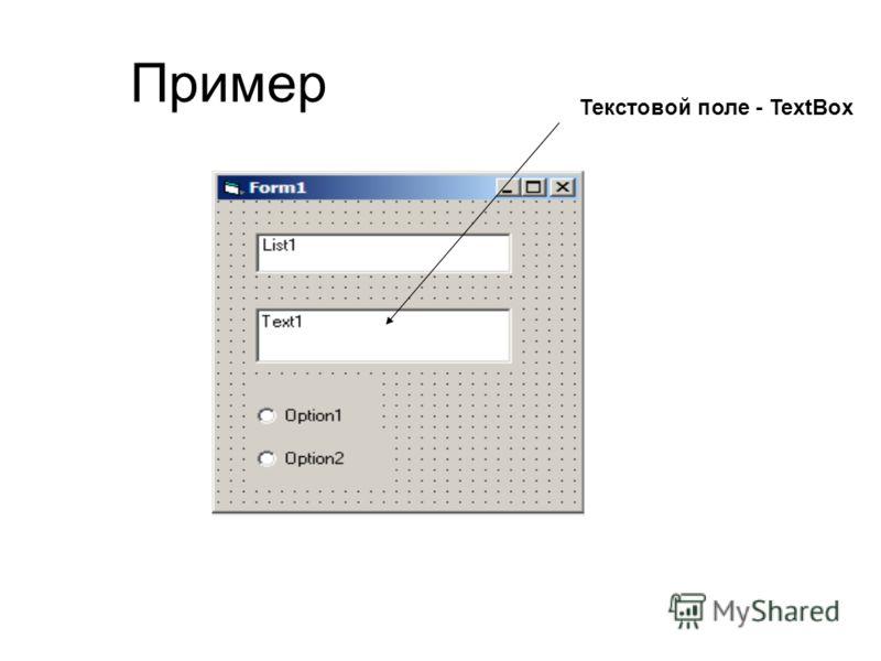 Пример Текстовой поле - TextBox
