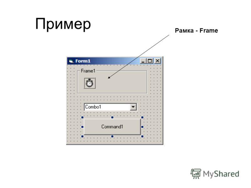 Пример Рамка - Frame