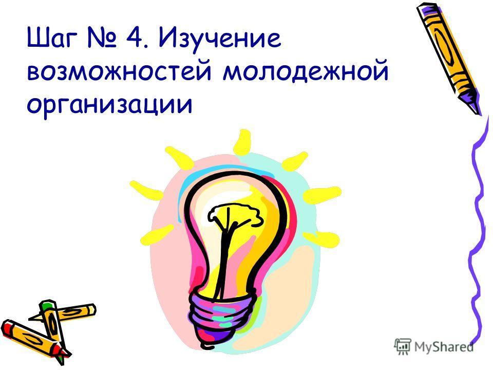 Шаг 4. Изучение возможностей молодежной организации