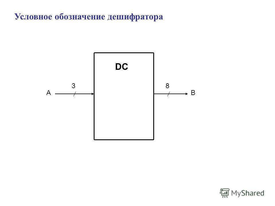Условное обозначение дешифратора DC 3 AB 8