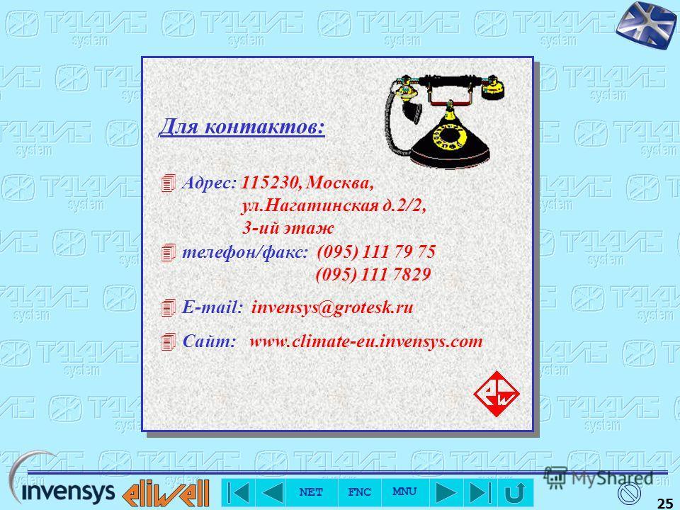 NET FNC MNU 24 Fax Позволяет получить доступ к функциям настройки факса. Открывает модуль ввода заголовка факсовых сообщений. Вход в модуль задания списка сервисных центров, в которые будут направляться автоматические сообщения. Данный модуль позволя