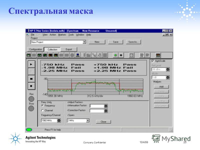 10/4/9925 Company Confidential 25 Спектральная маска