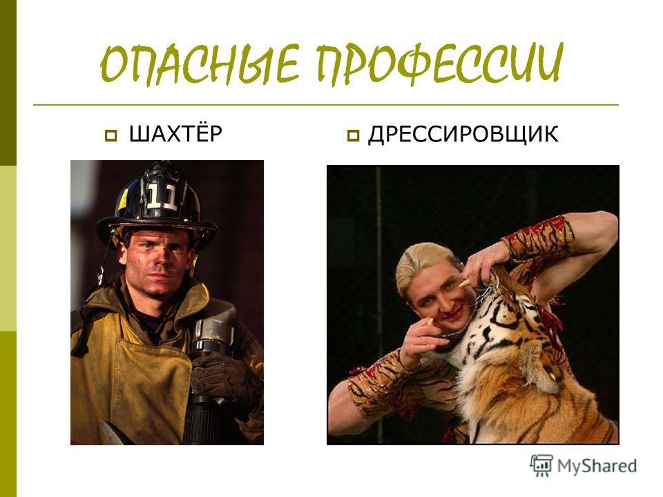 ОПАСНЫЕ ПРОФЕССИИ ШАХТЁР ДРЕССИРОВЩИК