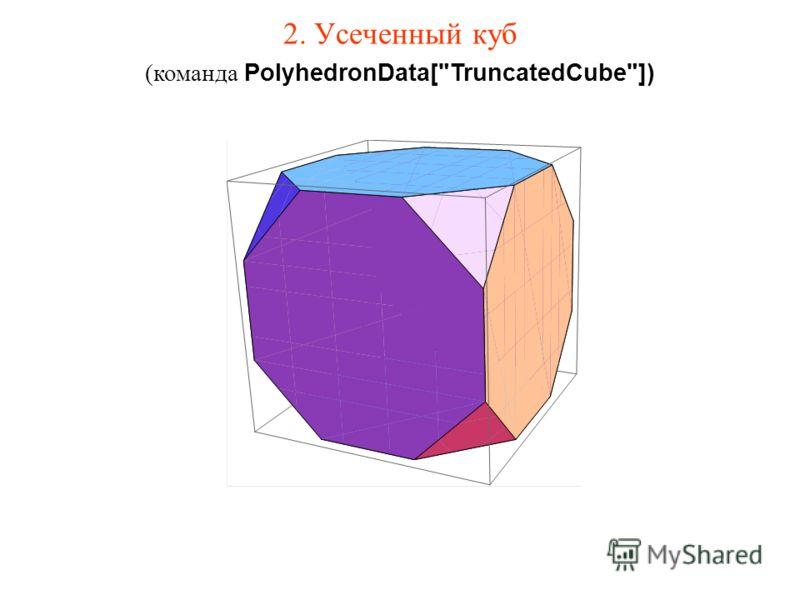 2. Усеченный куб (команда PolyhedronData[TruncatedCube])