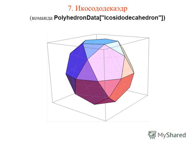 7. Икосододекаэдр (команда PolyhedronData[Icosidodecahedron])