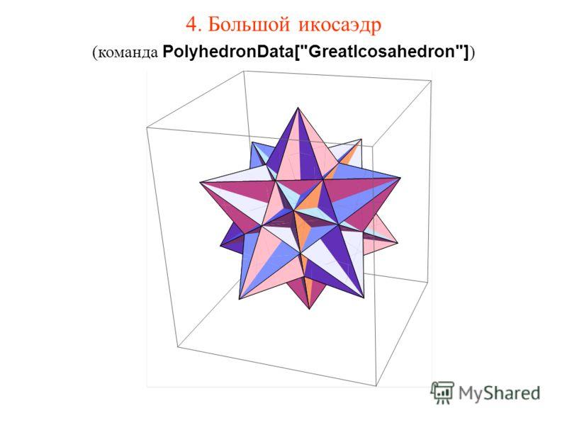 4. Большой икосаэдр (команда PolyhedronData[GreatIcosahedron] )