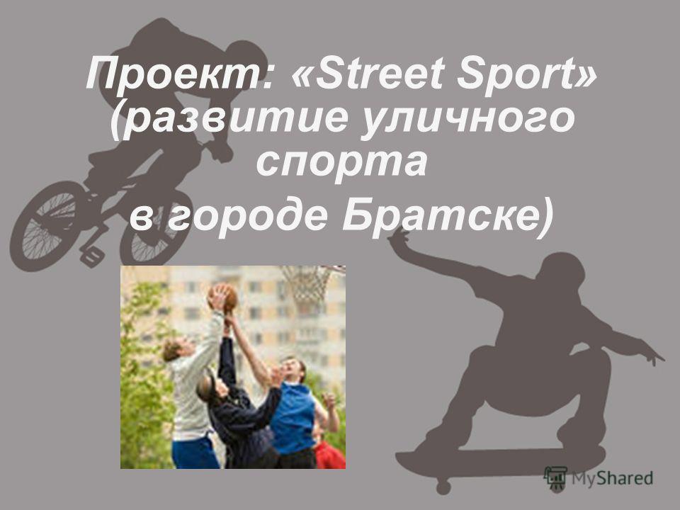 Проект: «Street Sport» (развитие уличного спорта в городе Братске)