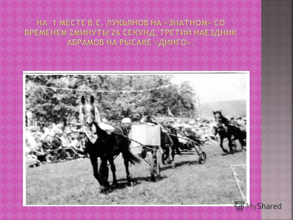 На этом снимке В.С. Лукьянов со своей сестрой Луизой Степановной Ильиной Снимок сделан 8 июня 1997 года в Бавлах, где личный рысак Владимира Степановича по кличке «Линия» заняла 2-ое место.