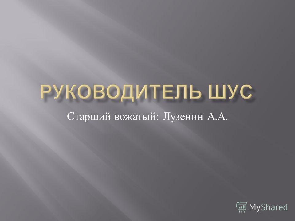 Старший вожатый : Лузенин А. А.