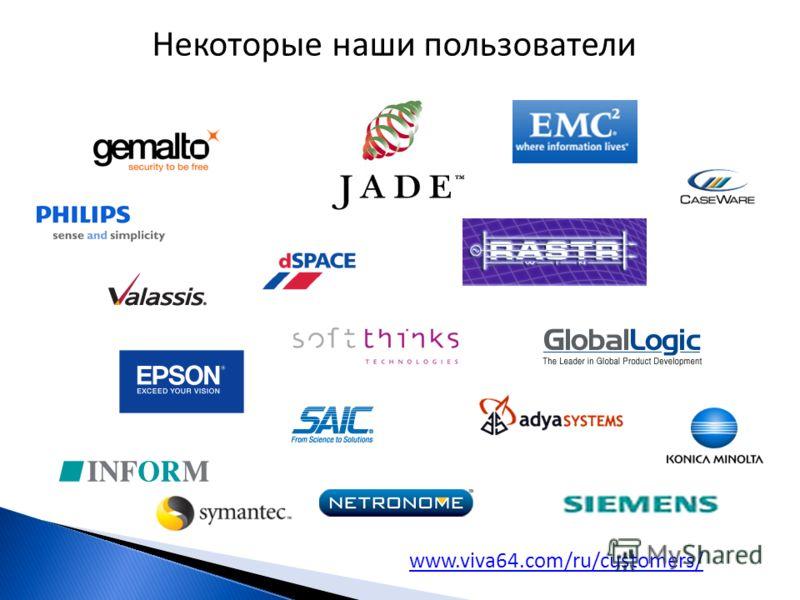 Некоторые наши пользователи www.viva64.com/ru/customers/