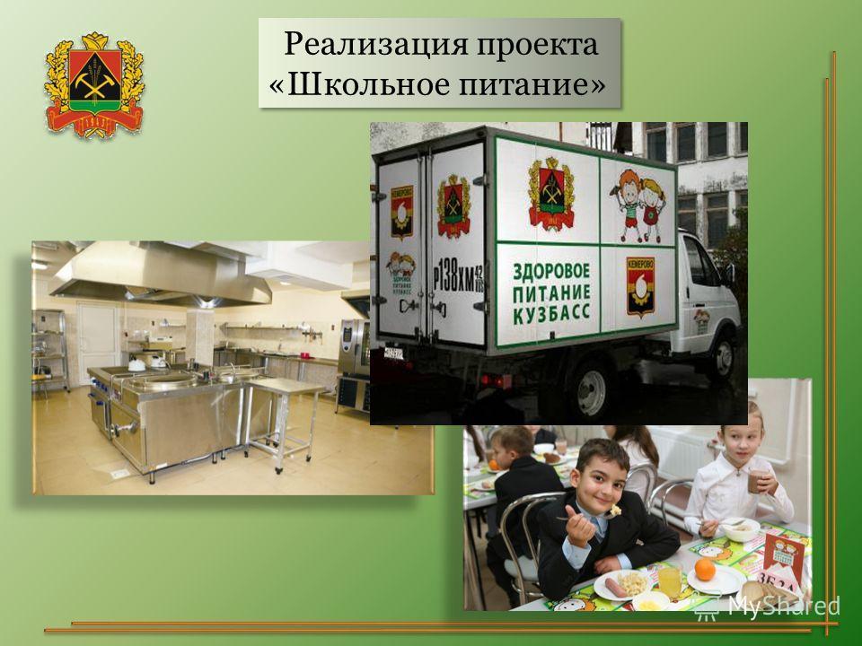 Реализация проекта «Школьное питание» Реализация проекта «Школьное питание»
