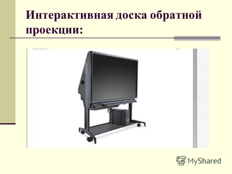 Интерактивная доска обратной проекции: