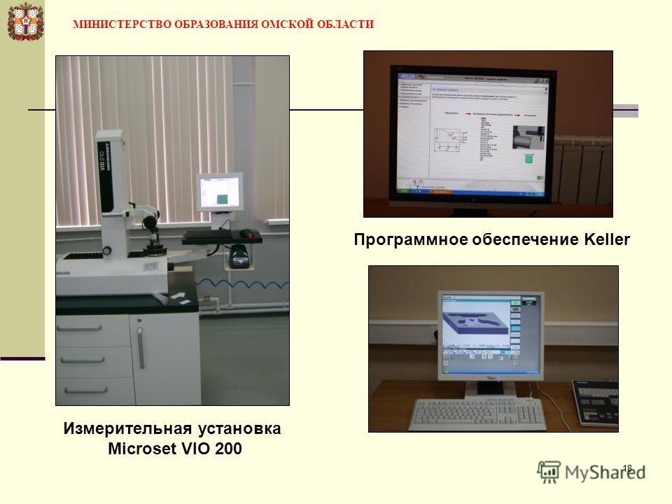 18 Измерительная установка Microset VIO 200 Программное обеспечение Keller МИНИСТЕРСТВО ОБРАЗОВАНИЯ ОМСКОЙ ОБЛАСТИ
