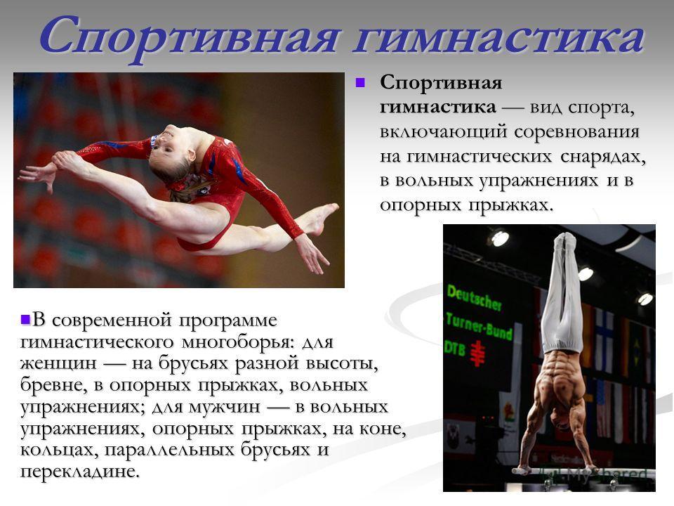 Презентация на тему Гимнастика Спортивная Мужская Женская  3 Спортивная гимнастика Спортивная