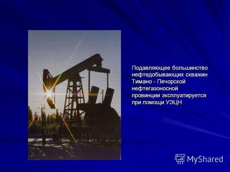 Подавляющее большинство нефтедобывающих скважин Тимано - Печорской нефтегазоносной провинции эксплуатируется при помощи УЭЦН