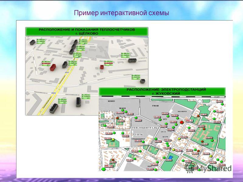Пример интерактивной схемы