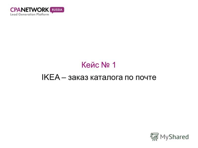 Кейс 1 IKEA – заказ каталога по почте