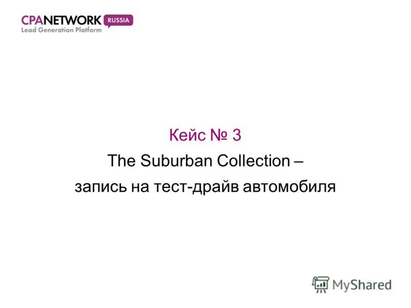 Кейс 3 The Suburban Collection – запись на тест-драйв автомобиля