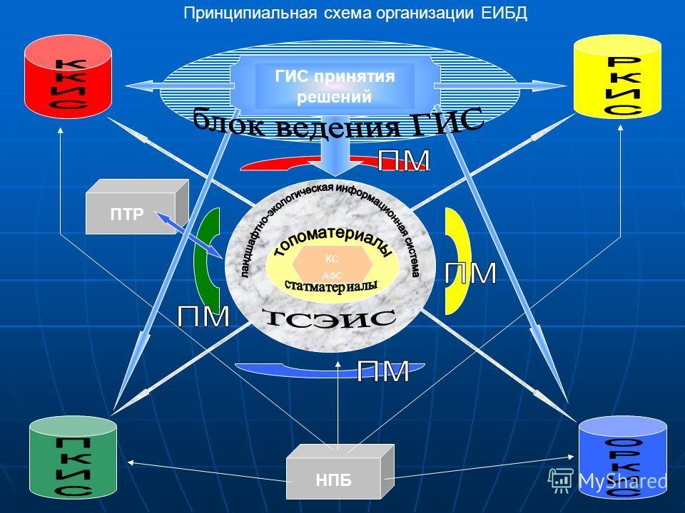 КС АФС ПТР НПБ Принципиальная схема организации ЕИБД ГИС принятия решений