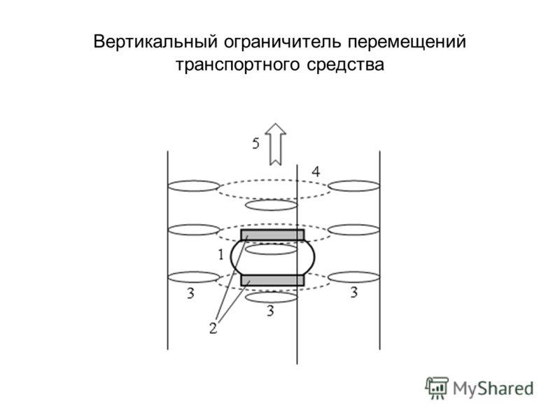 Вертикальный ограничитель перемещений транспортного средства