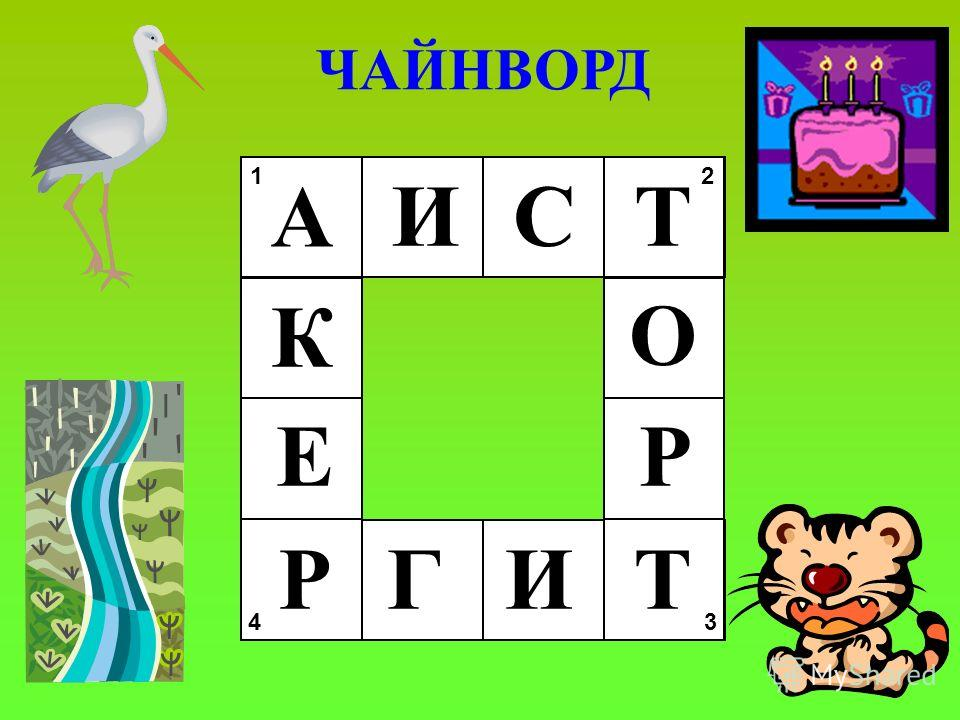 1 2 34 ЧАЙНВОРД А ИСТ И О Р ТГР Е К