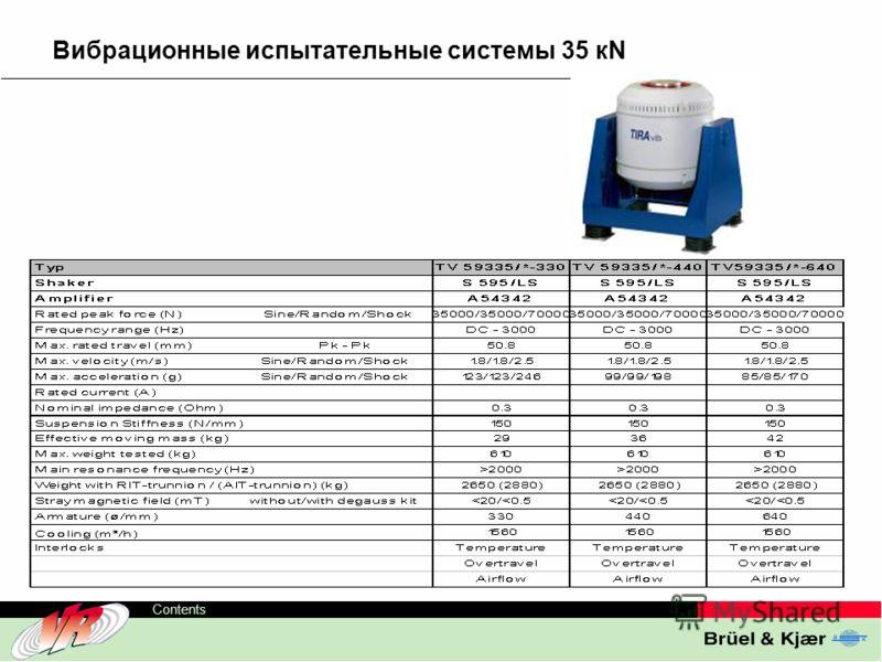 ODS-TC, 10 Contents Вибрационные испытательные системы 35 кN
