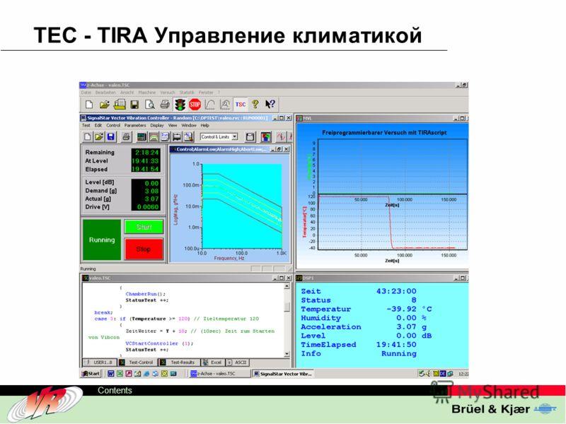ODS-TC, 20 Contents TEC - TIRA Управление климатикой