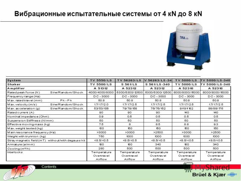 ODS-TC, 6 Contents Вибрационные испытательные системы от 4 кN до 8 кN