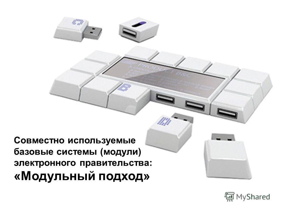 Совместно используемые базовые системы (модули) электронного правительства: «Модульный подход»