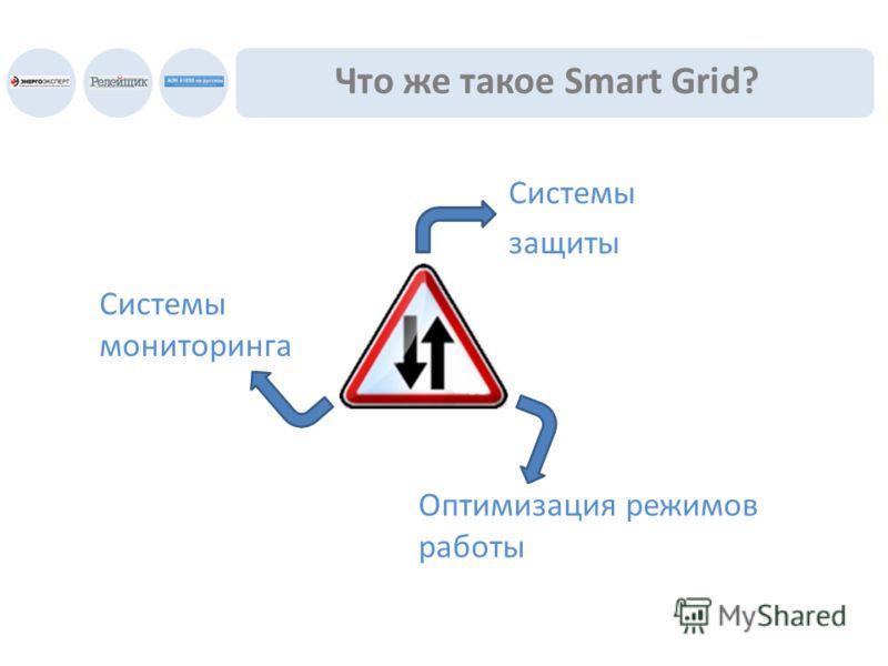 Что же такое Smart Grid? Системы мониторинга Системы защиты Оптимизация режимов работы