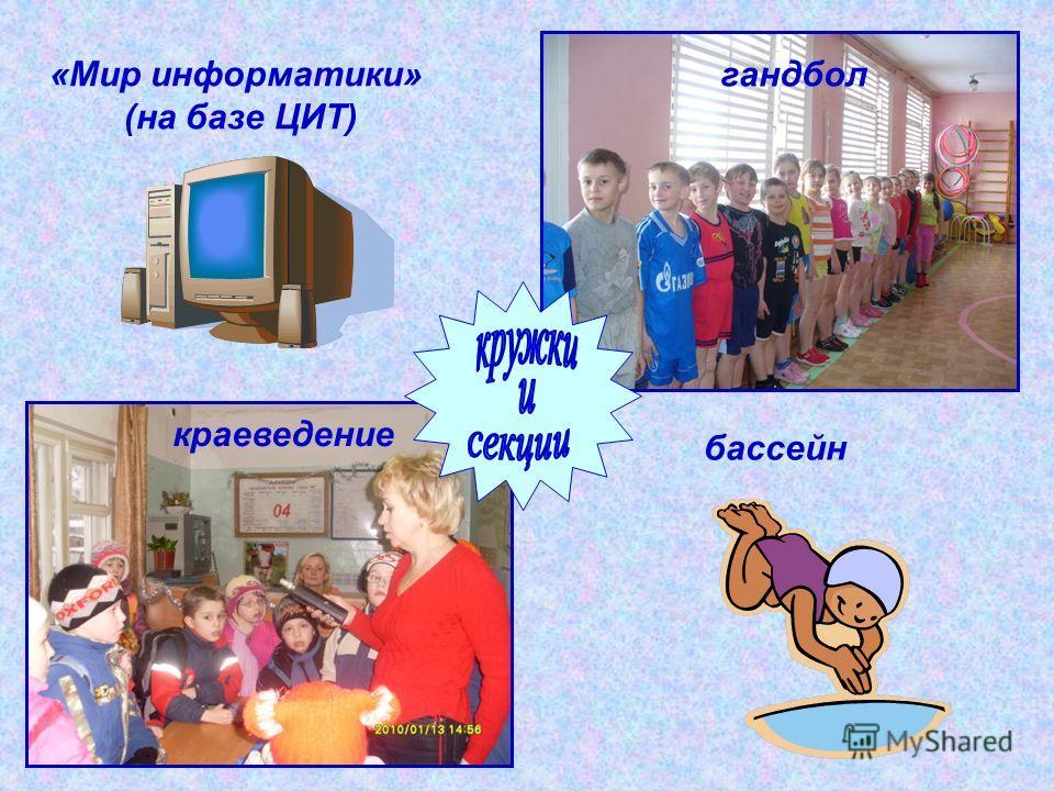 краеведение гандбол «Мир информатики» (на базе ЦИТ) бассейн
