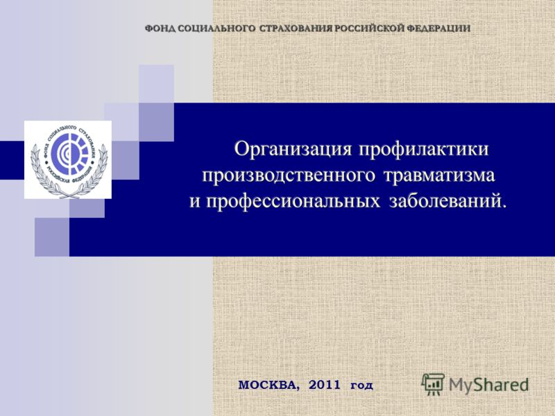 ФОНД СОЦИАЛЬНОГО СТРАХОВАНИЯ РОССИЙСКОЙ ФЕДЕРАЦИИ МОСКВА, 2011 год