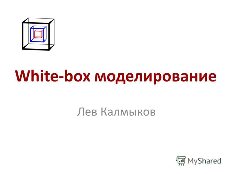 White-box моделирование Лев Калмыков