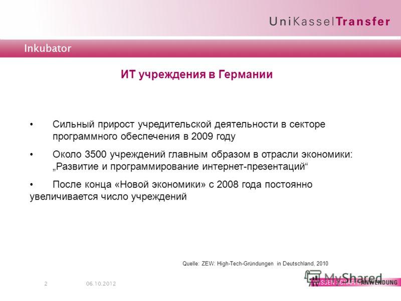 Technologietransfer inkubator 208 08 2012 ит учреждения в