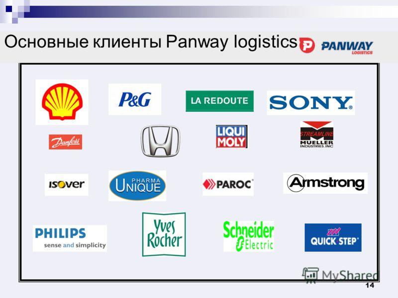 14 Основные клиенты Panway logistics