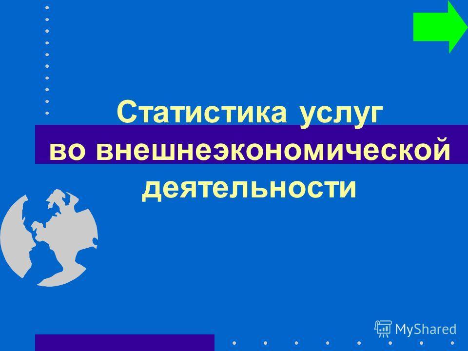Статистика услуг во внешнеэкономической деятельности