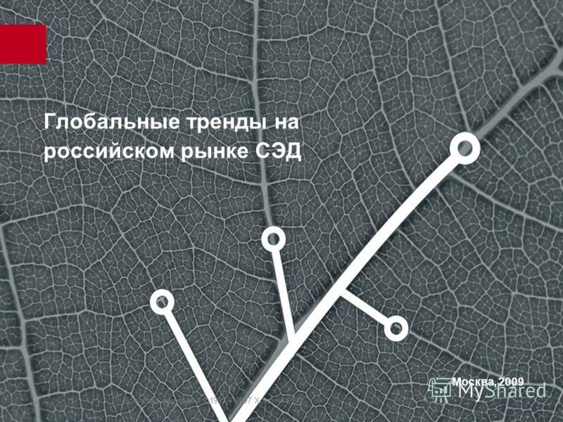 Все права защищены ©1995 – 2007 Холдинг РБК Глобальные тренды на российском рынке СЭД Москва, 2009