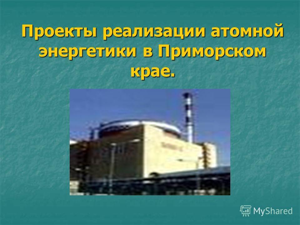Проекты реализации атомной энергетики в Приморском крае.