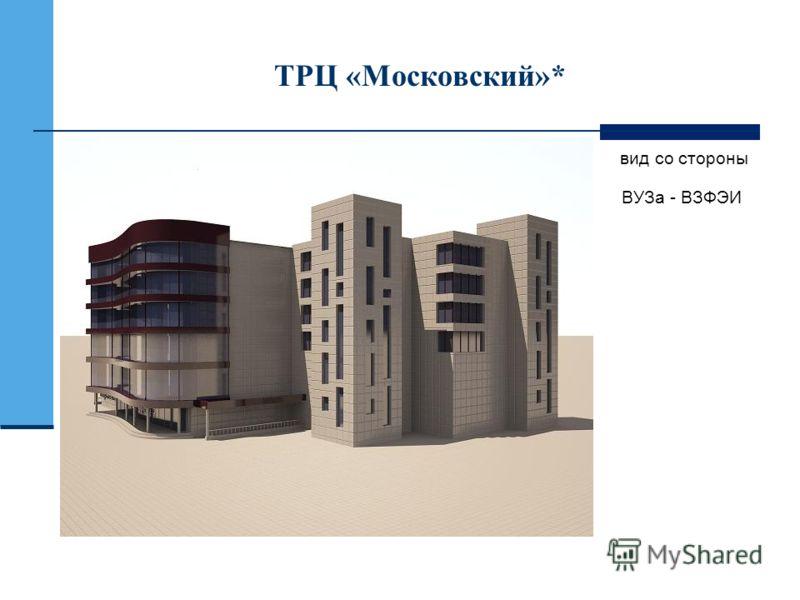 ТРЦ «Московский»* вид со стороны ВУЗа - ВЗФЭИ
