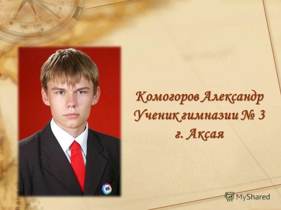 Комогоров Александр Ученик гимназии 3 г. Аксая
