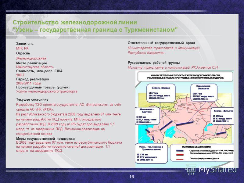 16 Строительство железнодорожной линии