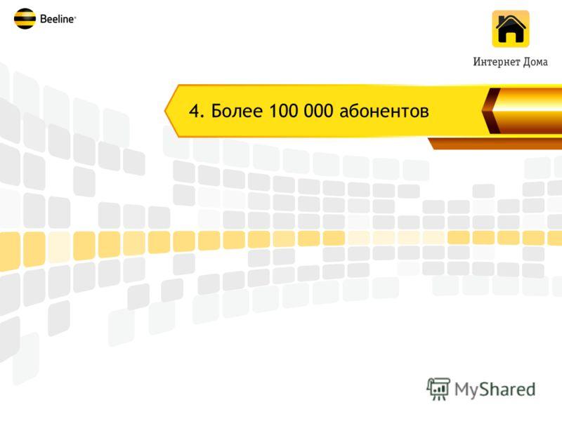 4. Более 100 000 абонентов